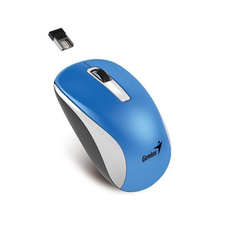 Мышь беспроводная Genius NX-7010 Blue USB(Radio) оптическая, 1600 dpi, 2 кнопки + колесо цена и фото