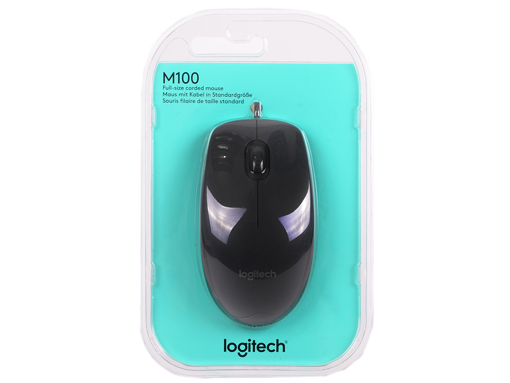 Мышь (910-005003) Logitech Mouse M100 Grey USB цена