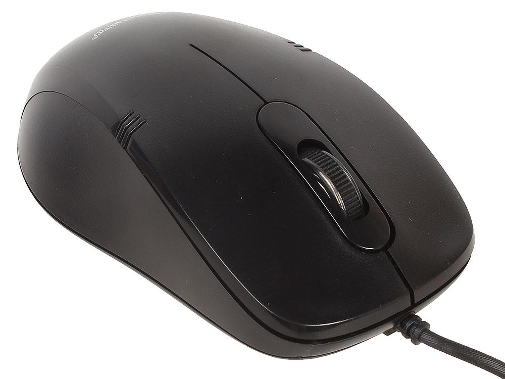 Фото - Мышь Gembird MOP-100 Black USB проводная, оптическая, 1000 dpi, 3 кнопки + колесо мышь беспроводная gembird musw 325 черный 2кнопоки колесо кнопка 2 4ггц 1000 dpi
