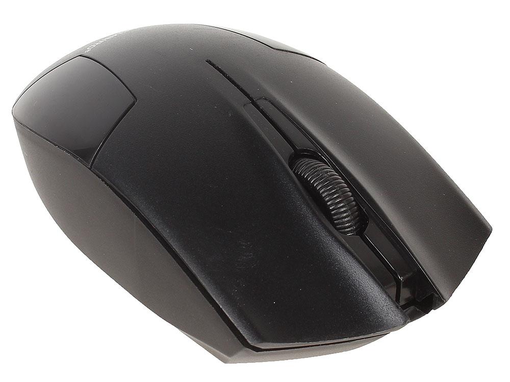 Фото - Мышь беспроводная Gembird MUSW-300 Black USB оптическая, 1000 dpi, 3 кнопки + колесо мышь беспроводная gembird musw 325 черный 2кнопоки колесо кнопка 2 4ггц 1000 dpi