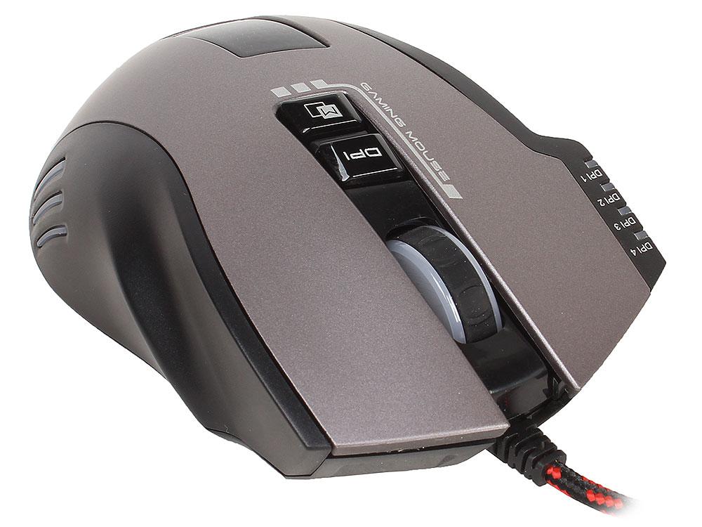Мышь Jet.A CRATUS JA-GH22 Black USB проводная, оптическая, 3000 dpi, 7 кнопок + колесо мышь проводная jet a arrow ja gh35 чёрный