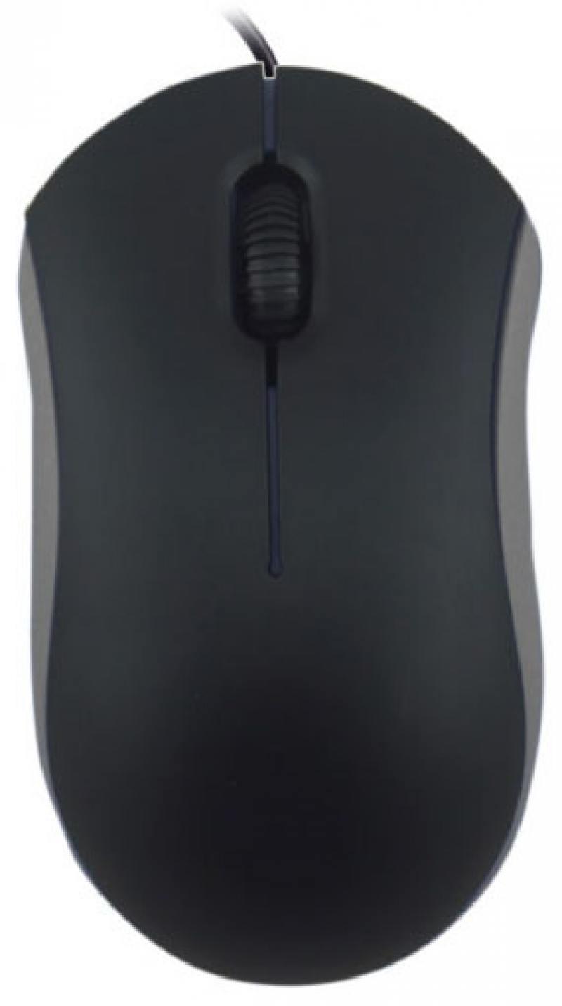 Мышь Ritmix ROM-111 Black/Grey USB Оптическая, 1000 dpi, 2 кнопки + колесо мышь проводная ritmix rom 303 чёрный usb