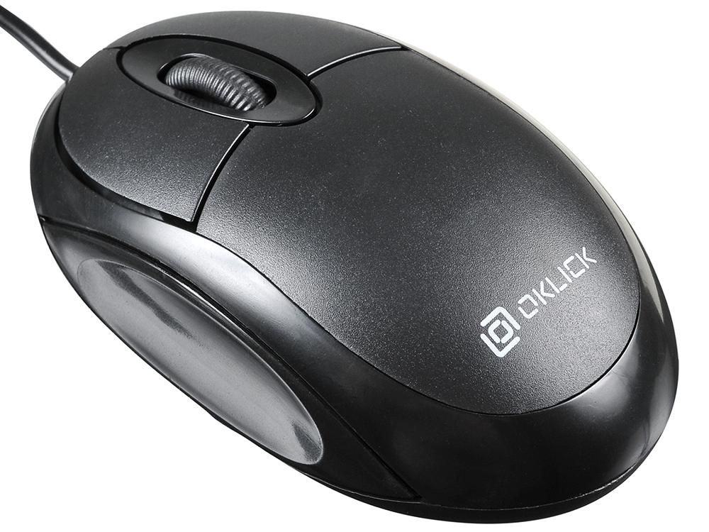 лучшая цена Мышь проводная Oklick 105S Black USB оптическая, 800 dpi, 3 кнопки + колесо