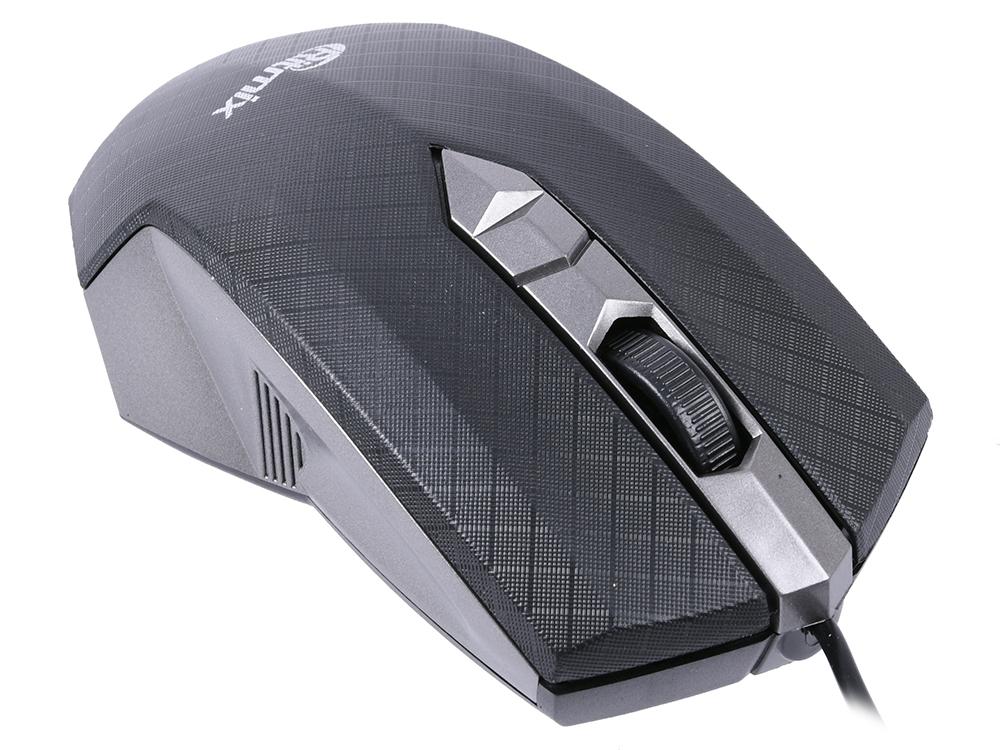 Мышь Ritmix ROM-202 Grey USB проводная, оптическая, 1000 dpi, 2 кнопки + колесо