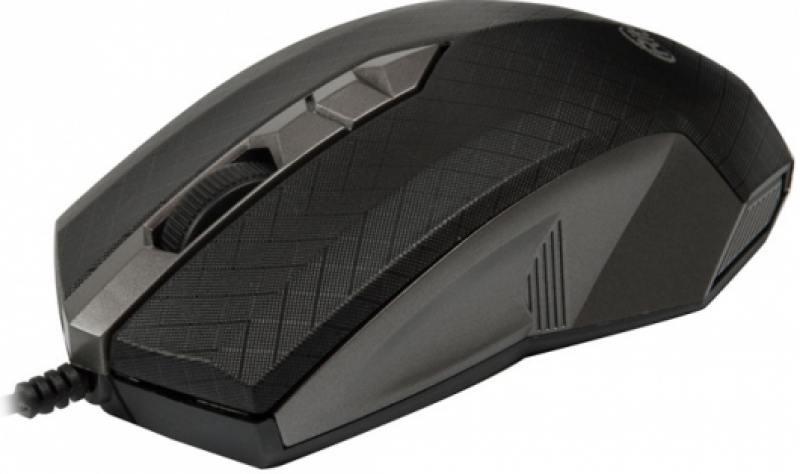 Мышь RITMIX ROM-202 GREY, 1000DPI, 2 кнопки+колесо прокрутки, USB, длина провода 120 см мышь проводная ritmix rom 111 black gray 1000dpi 2 кнопки колесо прокрутки черно коричневый usb длина провода 120 см