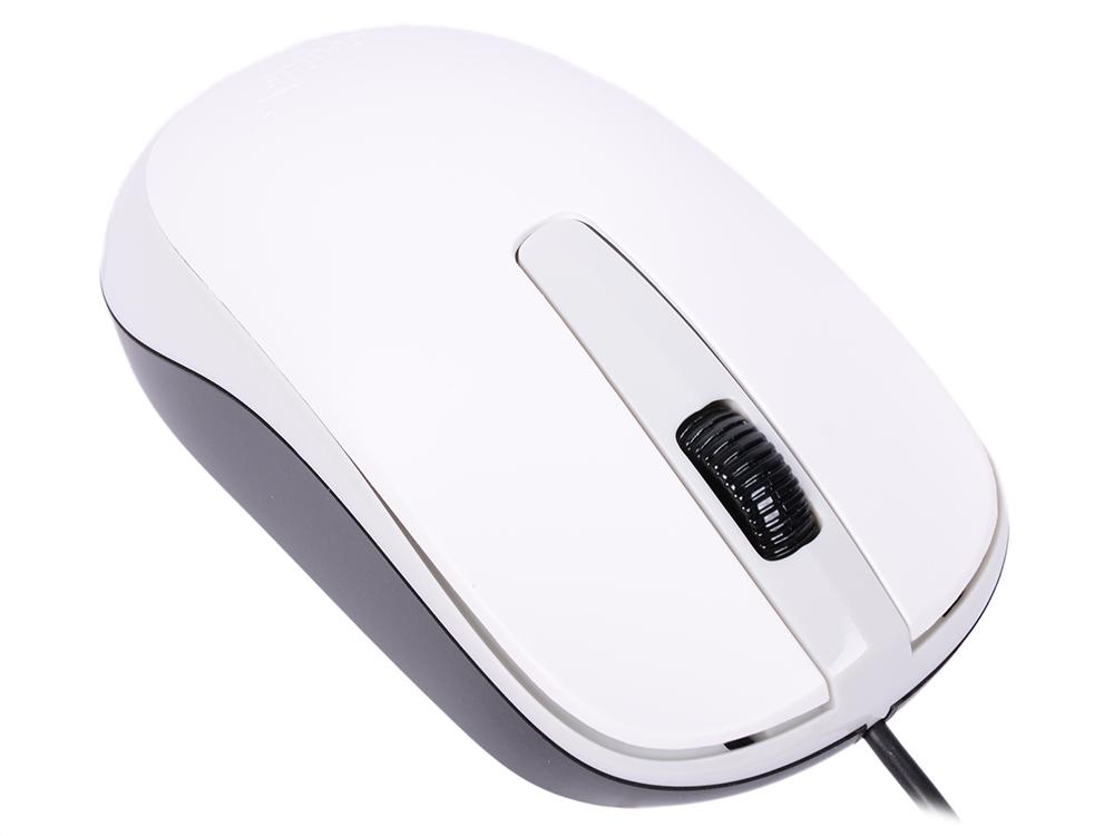 Мышь Genius DX-120 White USB проводная, оптическая, 1000 dpi, 3 кнопки + колесо