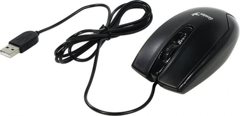 Мышь Genius DX-100X Black USB проводная, оптическая, 1200 dpi, 3 кнопки + колесо мышь genius dx 110 white оптическая 1200 dpi 3 кнопки usb
