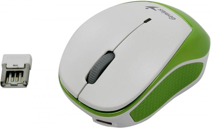 Мышь беспроводная Genius Micro Traveler 9000R V3 Green White USB оптическая, 1200 dpi, 3 кнопок + колесо
