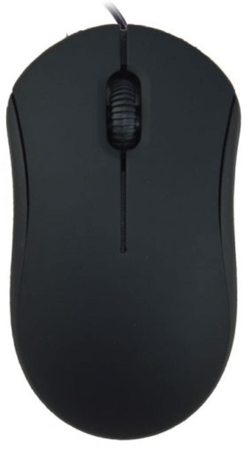 Мышь Ritmix ROM-111 Black USB проводная, оптическая, 1000 dpi, 3 кнопки + колесо мышь проводная ritmix rom 111 black gray 1000dpi 2 кнопки колесо прокрутки черно коричневый usb длина провода 120 см