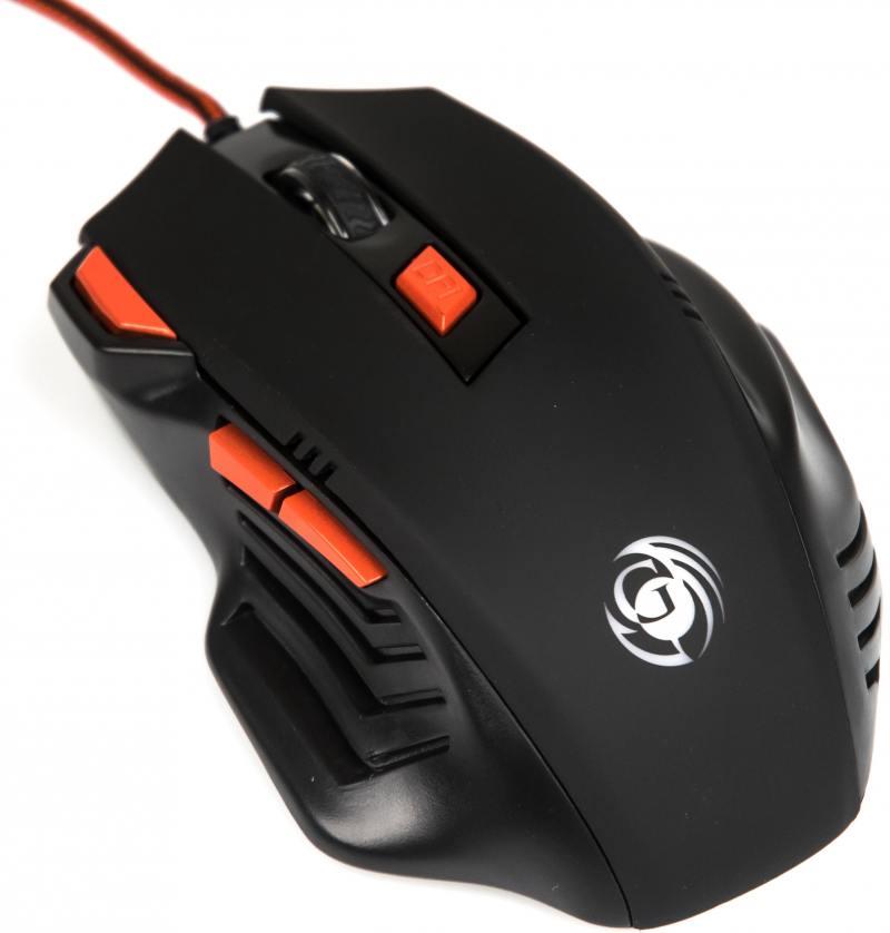 лучшая цена Мышь Dialog Gan-Kata MGK-30U Black/Orange USB проводная, оптическая, 3200 dpi, 6 кнопок + колесо