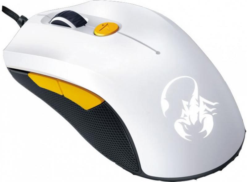 лучшая цена Мышь Genius M6-600 White Orange USB проводная, оптическая, 5000 dpi, 6 кнопок + колесо