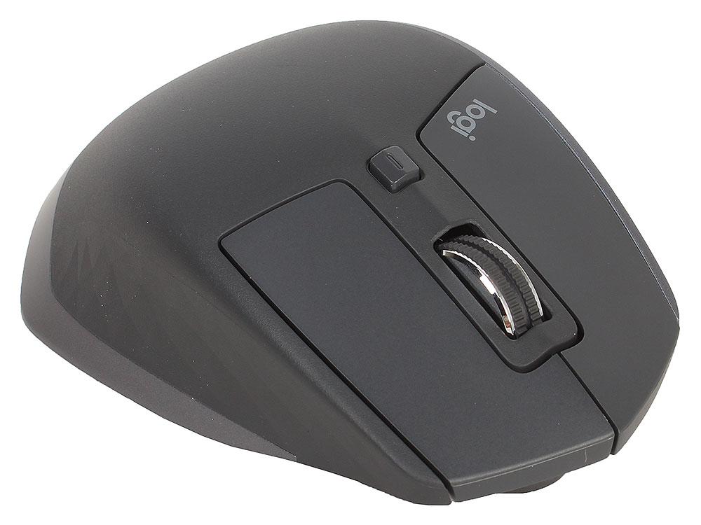 лучшая цена Мышь беспроводная Logitech MX Master 2S Black BT + USB лазерная, 4000 dpi, 6 кнопок + колесо