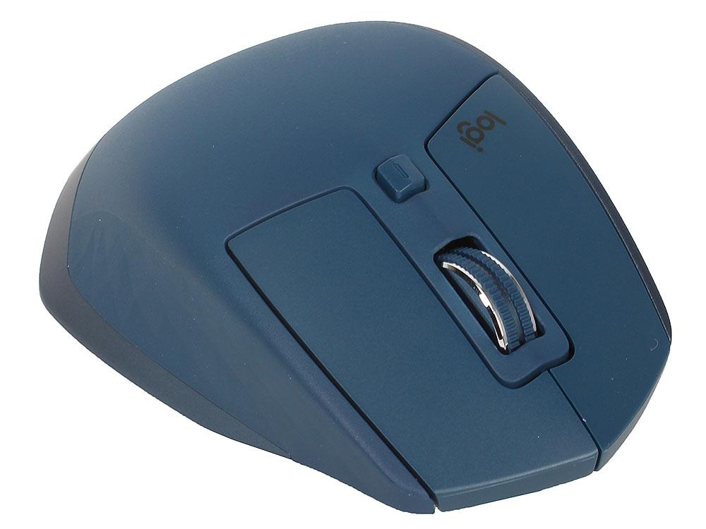 лучшая цена Мышь беспроводная Logitech MX Master 2S MIDNIGHT TEAL USB лазерная, 4000 dpi, 7 кнопок + колесо