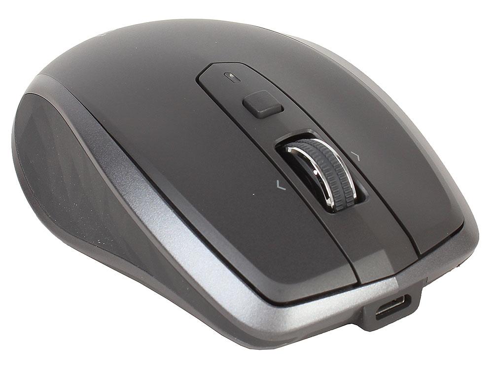 лучшая цена Мышь беспроводная Logitech MX Anywhere 2S GRAPHITE USB оптическая, 4000 dpi, 7 кнопок + колесо