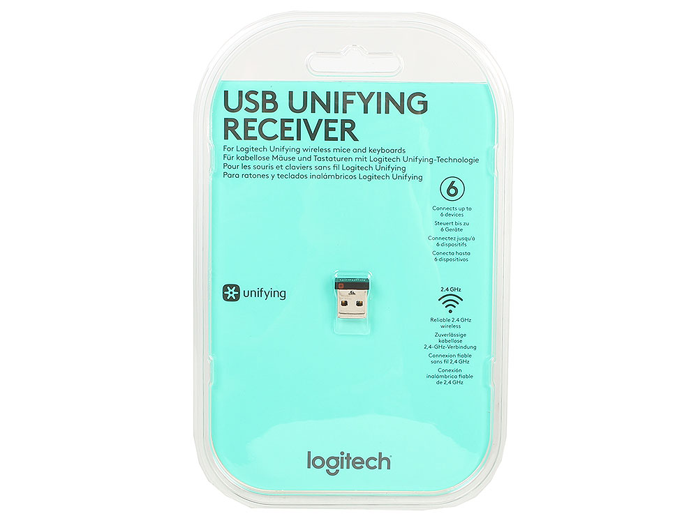 (910-005236) USB-приемник Logitech USB Unifying receiver logitech logitech usb unifying приемник