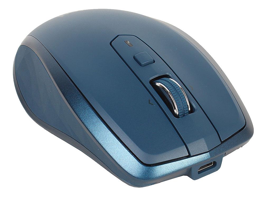 лучшая цена Мышь беспроводная Logitech MX Anywhere 2S MIDNIGHT TEAL USB оптическая, 4000 dpi, 7 кнопок + колесо