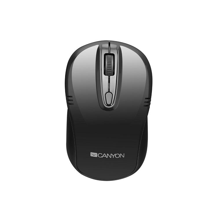 Мышь беспроводная Canyon CNE-CMSW02B Black USB оптическая, 1600 dpi, 3 кнопки + колесо цена