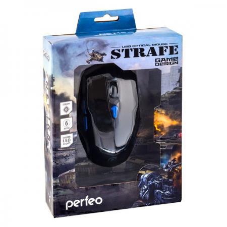 Мышь Perfeo Strafe PF-1731-GM Black USB оптическая, 3200 dpi, 5 кнопок + колесо цена и фото