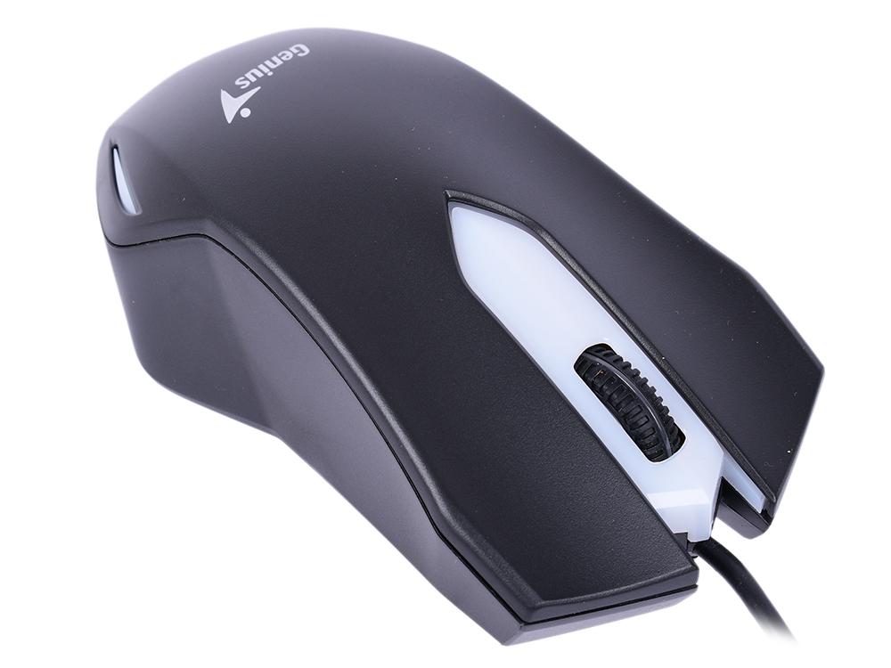 Мышь Genius X-G200 Black USB проводная, оптическая, 1000 dpi, 3 кнопки + колесо мышь проводная genius dx 135 black usb