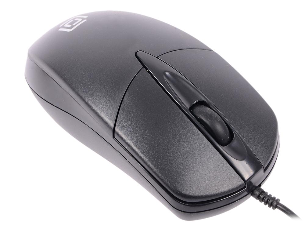 лучшая цена Мышь Oklick 275M Black USB проводная, оптическая, 1000 dpi, 2 кнопки + колесо
