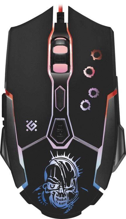 лучшая цена Мышь Defender Killer GM-170L Black USB проводная, оптическая, 3200 dpi, 7 кнопок + колесо
