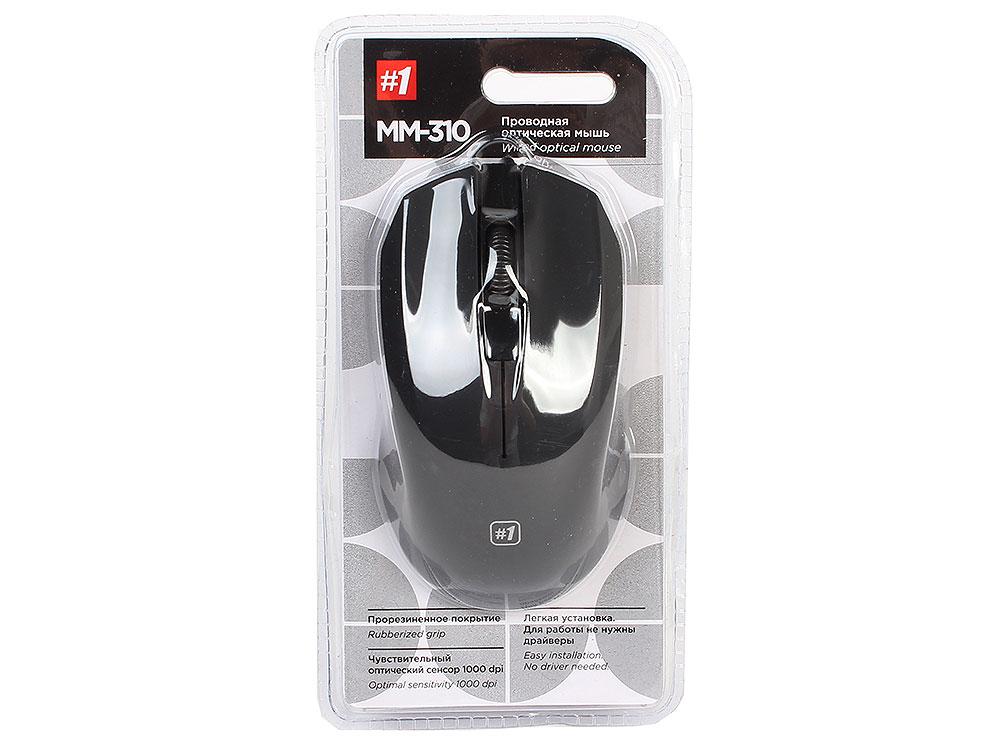 лучшая цена Мышь Defender MM-310 Black USB проводная, оптическая, 1000 dpi, 3 кнопки + колесо