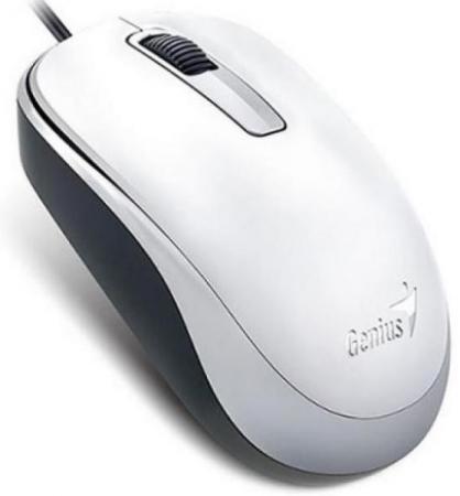 Мышь Genius DX-125 White USB проводная, оптическая, 1200 dpi, 3 кнопки + колесо