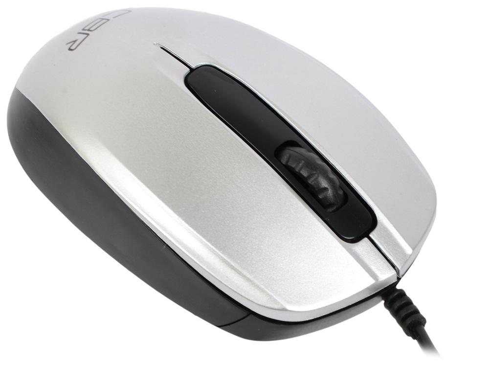 цена на Мышь CBR CM 117 Silver USB проводная, оптическая, 1200dpi, 2 кнопки + колесо