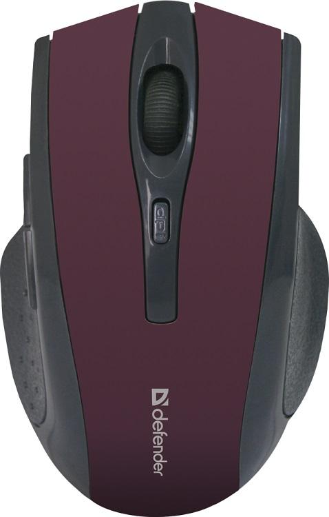 Мышь беспроводная Defender Accura MM-665 Red USB оптическая, 1600 dpi, 5 кнопок + колесо мышь defender accura mm 665 black беспроводная оптическая