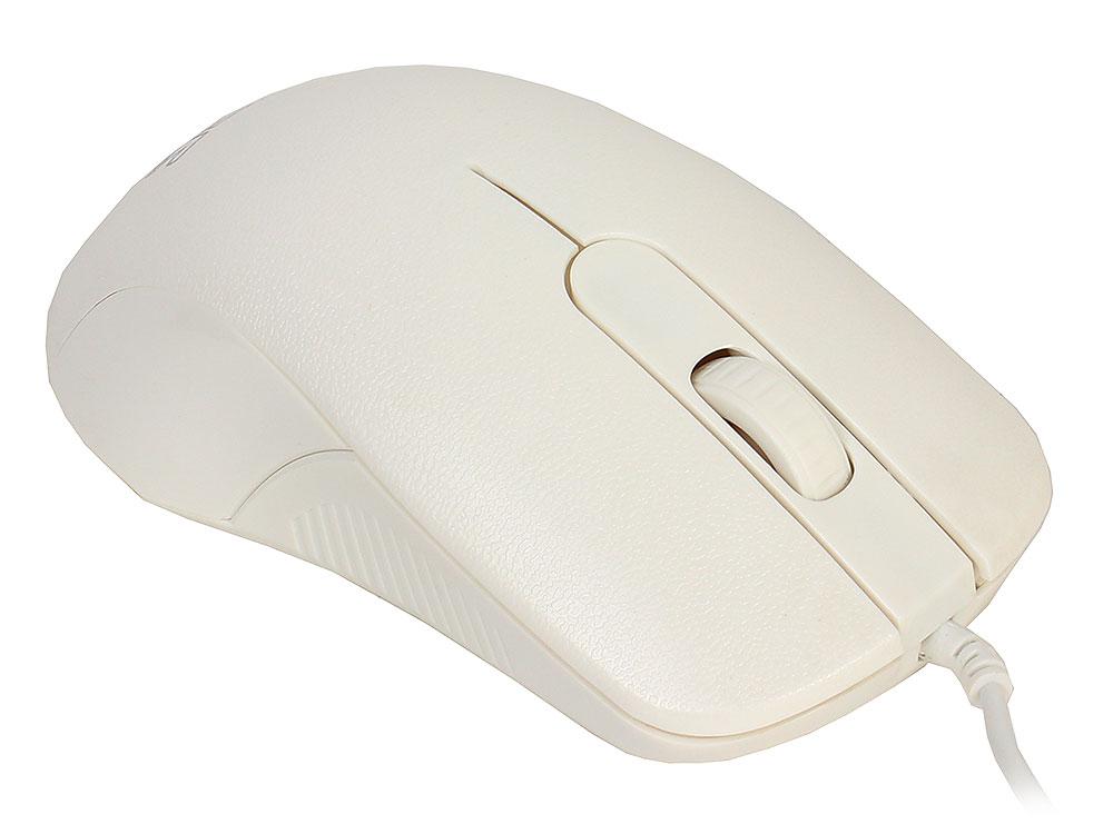 Мышь CBR CM 105 White, оптика, 1200dpi, офисн., провод 1,8м, USB мышь проводная cbr cm 105 чёрный usb
