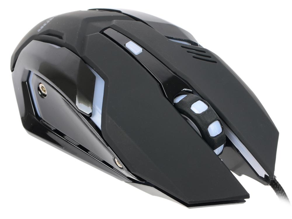 Фото - Мышь игровая CBR CM 853 Armor, USB, 1200/1600/2400 dpi, дышащая подсветка: 4 цвета, софттач пластик, черный цвет корпуса мышь cbr cm 677 grey оптика радио 2 4 ггц 1200 dpi usb