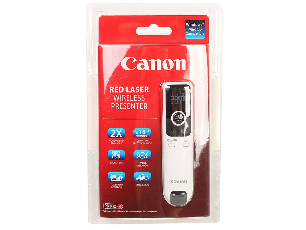 лучшая цена Презентер Canon PR100-R (дальность 15м, ЖК-дисплей, таймер и вибрация)