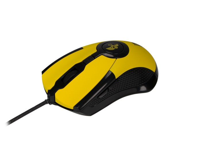 лучшая цена Мышь Jet.A ARROW JA-GH35 Black Yellow USB проводная, оптическая, 2400 dpi, 6 кнопок + колесо