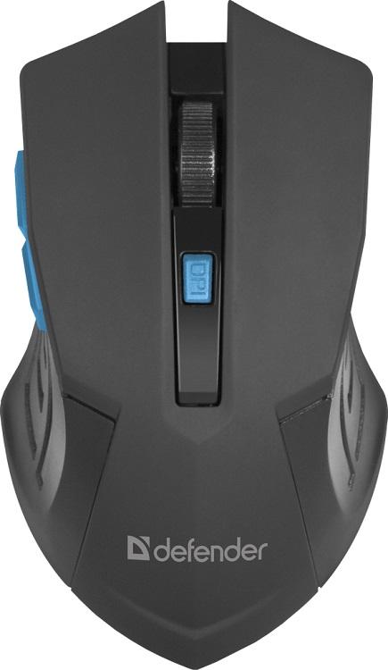 лучшая цена Мышь беспроводная Defender Accura MM-275 Black Blue USB оптическая, 1600 dpi, 5 кнопок + колесо