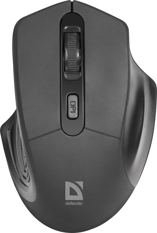 Мышь беспроводная Defender Datum MB-345 Black USB оптическая, 1600 dpi, 3 кнопки + колесо мышь оптическая defender flash mb 600l оптическая три кнопки колесо конпка 1200 dpi