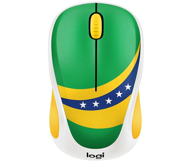 лучшая цена Мышь беспроводная Logitech M238 Brazil USB оптическая, 1000 dpi, 3 кнопки + колесо