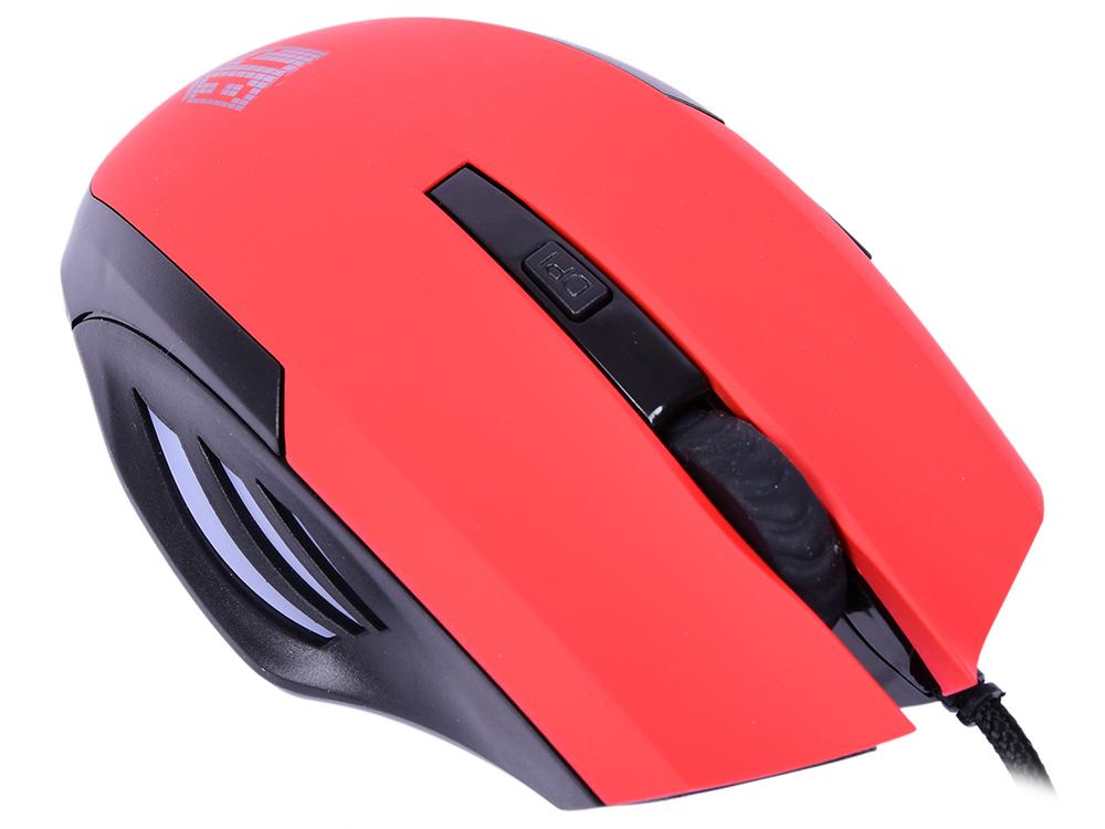 Мышь Jet.A Comfort OM-U54 LED Red USB проводная, оптическая, 2400 dpi, 5 кнопок + колесо мышь steelseries rival 310 black usb проводная оптическая 12000 dpi 5 кнопок колесо