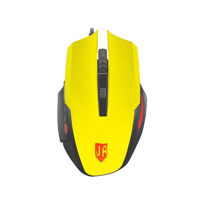 Мышь Jet.A Comfort OM-U54 LED Yellow USB проводная, оптическая, 2400 dpi, 5 кнопок + колесо