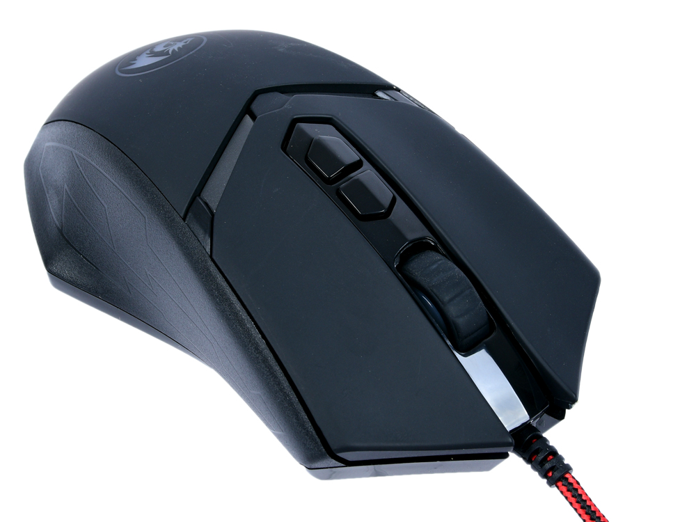 Мышь Redragon Nemeanlion 2 Black USB проводная, оптическая, 7200 dpi, 6 кнопок + колесо мышь игровая redragon foxbat лазер 19 кнопок 50 16400 dpi