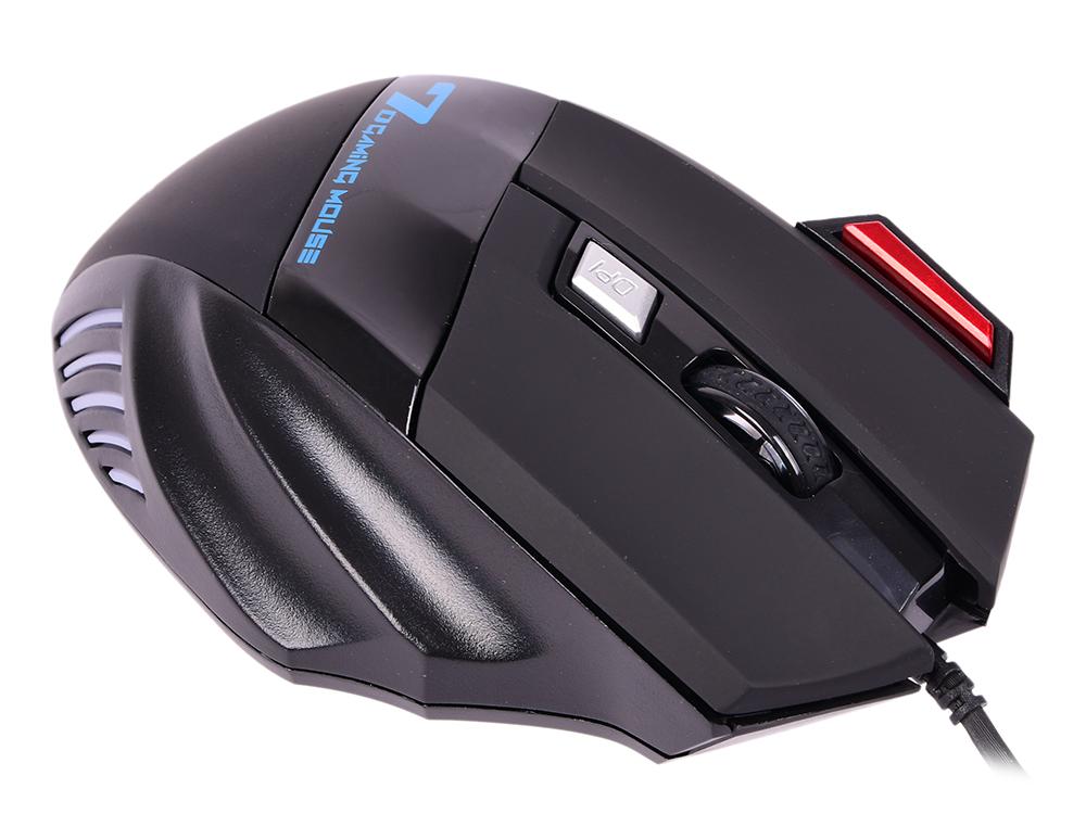 Мышь Ritmix ROM-345 Black USB проводная, оптическая, 2400 dpi, 6 кнопjк + колесо цена
