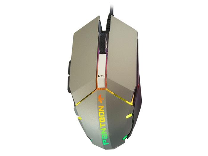 Мышь Jet.A Panteon MS63 Silver USB проводная, оптическая, 2750 dpi, 5 кнопок + колесо проводная мышь ibm thinkpad usb 0b47153