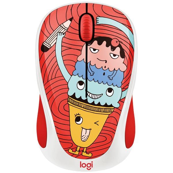 лучшая цена Мышь Logitech M238 Triple Scoop White/Red USB(Radio) Оптическая, 1000 dpi, 2 кнопки + колесо