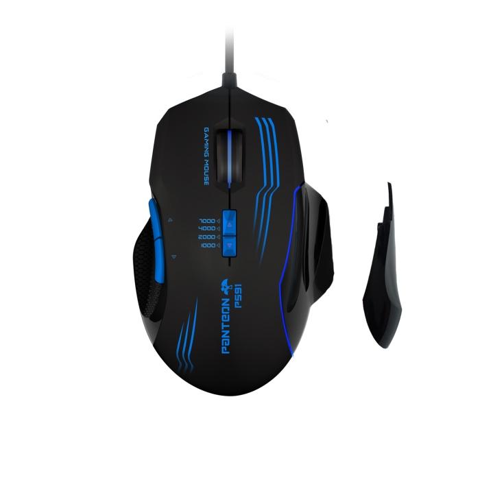 Мышь Jet.A Panteon PS91 Black USB проводная, оптическая, 7000 dpi, 6 кнопок + колесо