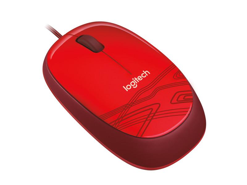 лучшая цена Мышь Logitech Mouse M105 910-002945 Red USB проводная, оптическая, 1000 dpi, 3 кнопки + колесо