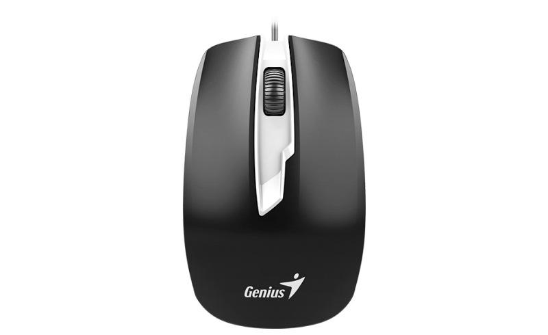 Мышь DX-180 Black USB проводная, оптическая, 1600 dpi, 3 кнопки + колесо мышь проводная genius dx 135 black usb