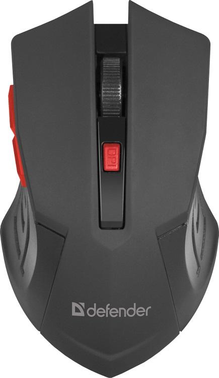 Мышь беспроводная Defender Accura MM-275 Black USB оптическая, 1600 dpi, 5 кнопок + колесо defender accura mm 295 черный [52295] беспроводная оптическая мышь 6 кнопок 800 1600 dpi