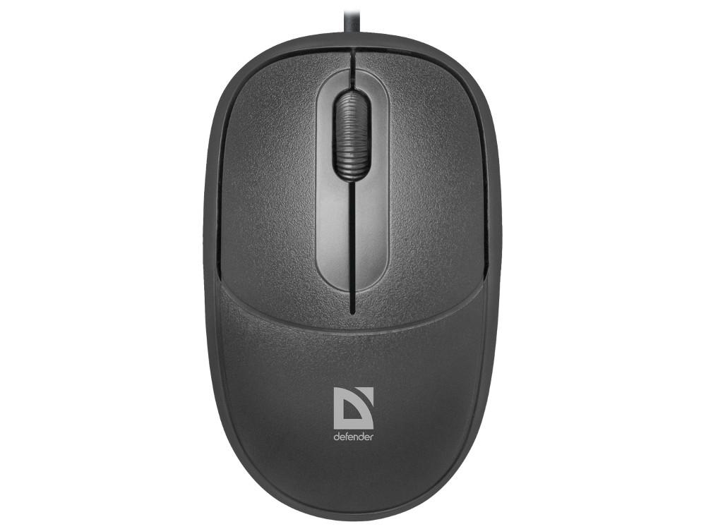 цена на Мышь Defender Datum MS-980 Black USB проводная, оптическая, 1000 dpi, 2 кнопки + колесо
