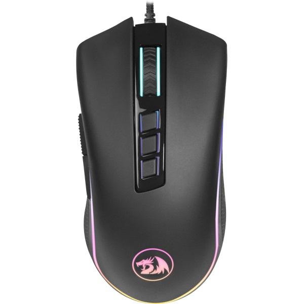 Мышь Cobra RGB Redragon Black USB проводная, оптическая, 10000 dpi, 9 кнопок + колесо мышь игровая redragon foxbat лазер 19 кнопок 50 16400 dpi