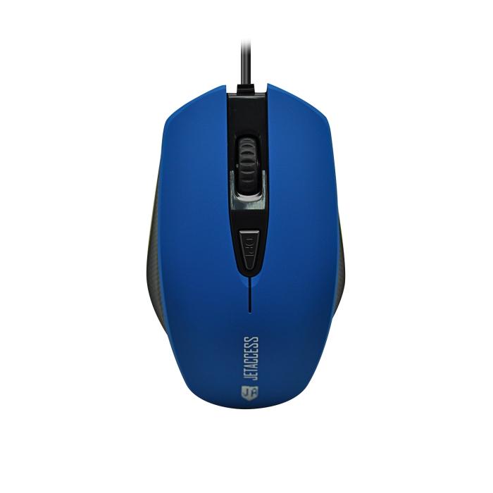 Мышь Jet.A Comfort OM-U60 Blue USB проводная, оптическая, 1600 dpi, 3 кнопки + колесо