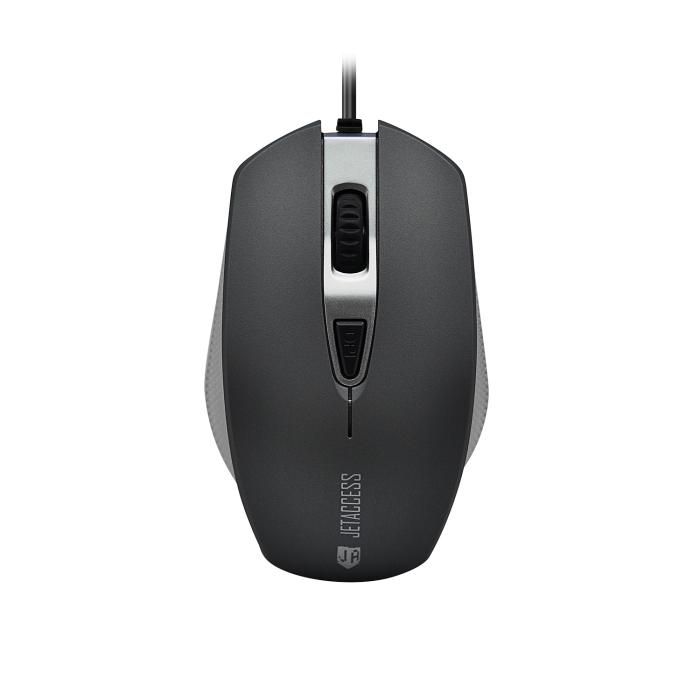 Мышь Jet.A Comfort OM-U60 Black Gray USB проводная, оптическая, 1600 dpi, 4 кнопки + колесо